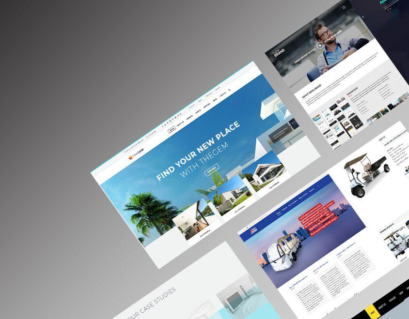 พัฒนาเว็บไซต์ Design สมัยใหม่